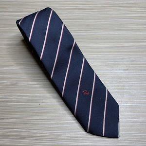Christian Dior Blue Striped Silk Tie